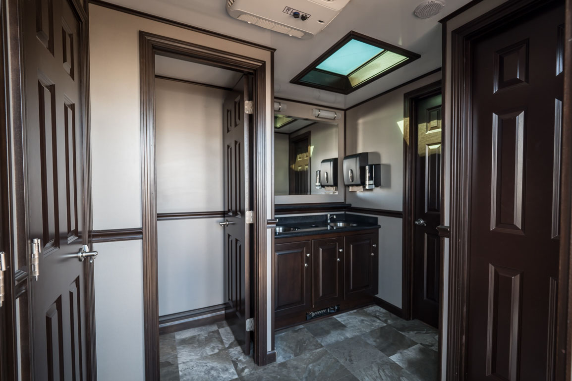 Interior of the Elegance 500 portable washroom for special events