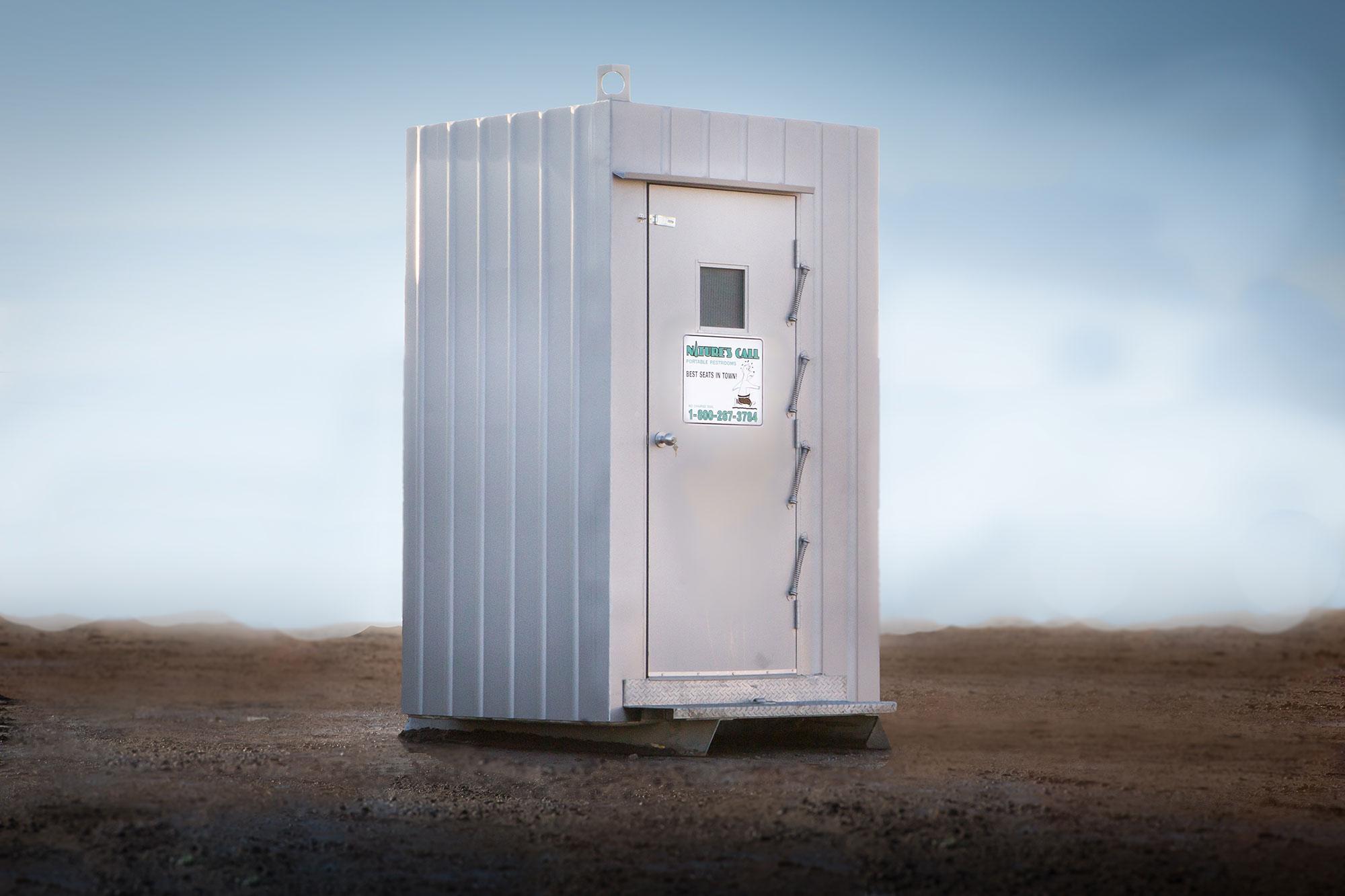a self-contained portable restroom