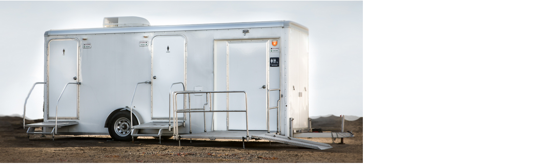 Accessible event bathroom trailer