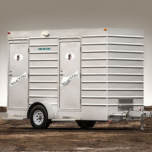 a trailer containing two washrooms