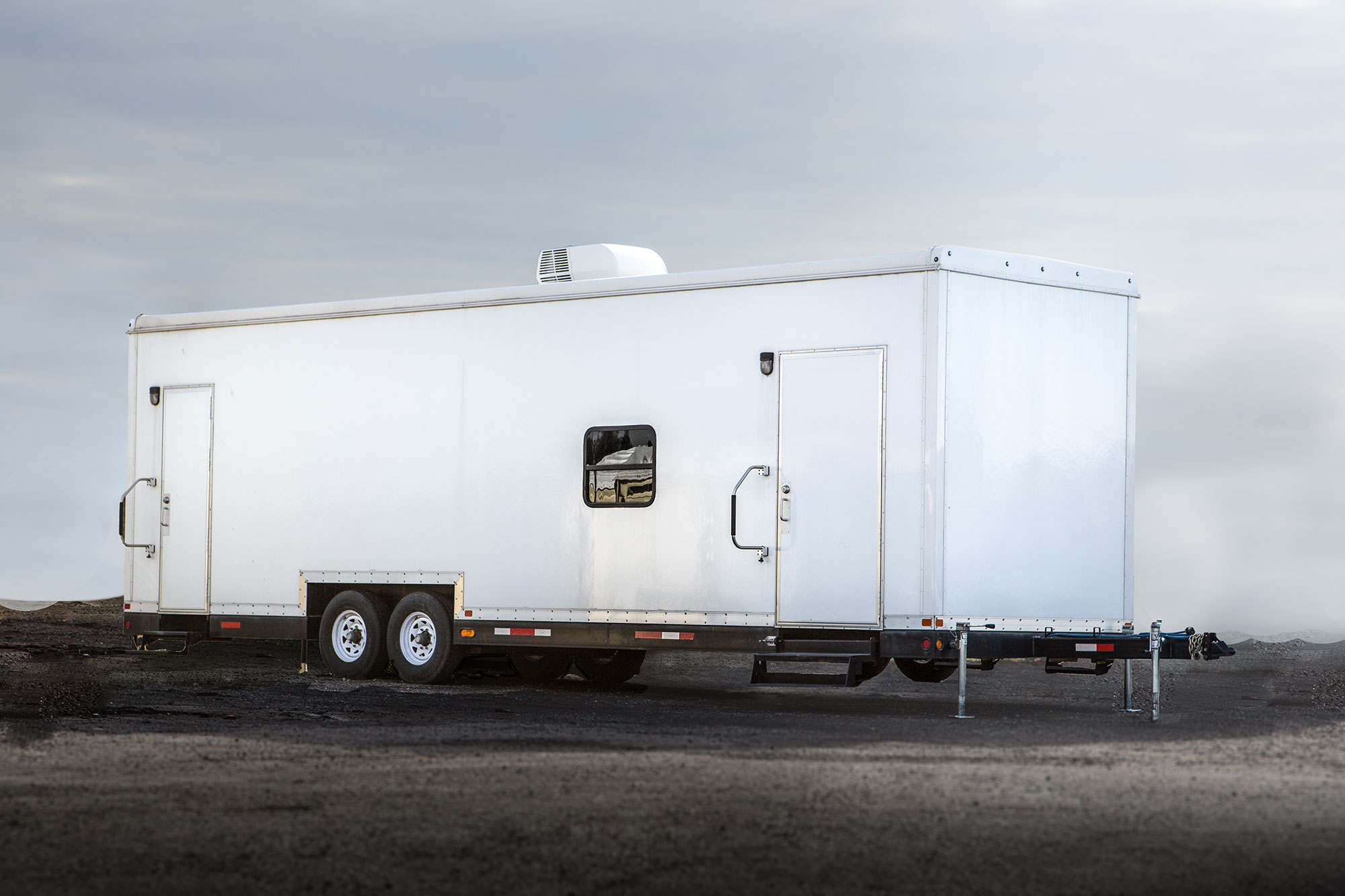 Large HQ command trailer in Ontario