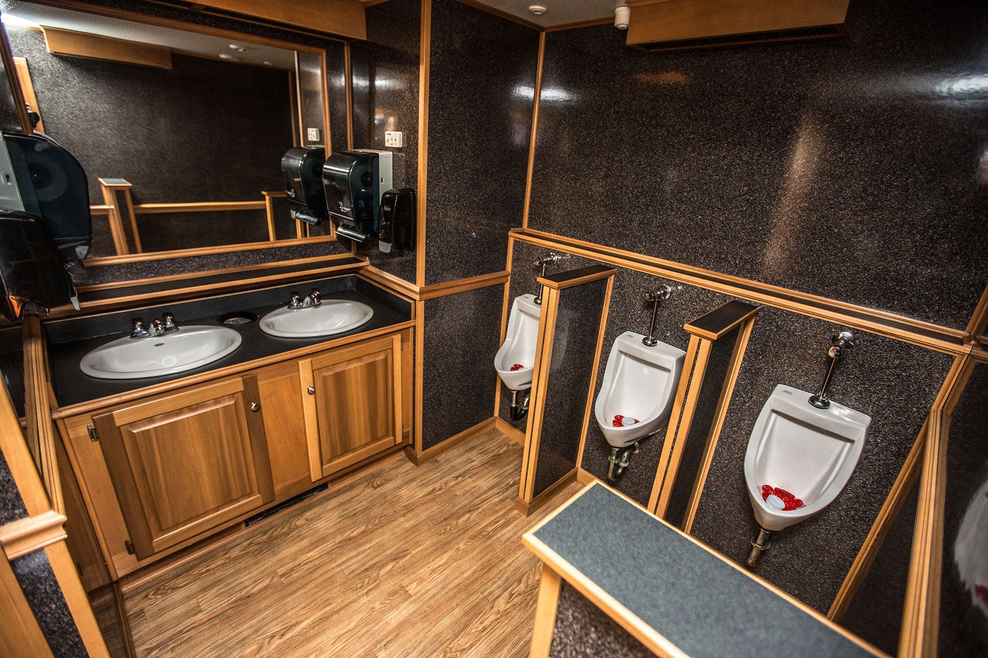 Interior of the Elegance 400 portable washroom for special events