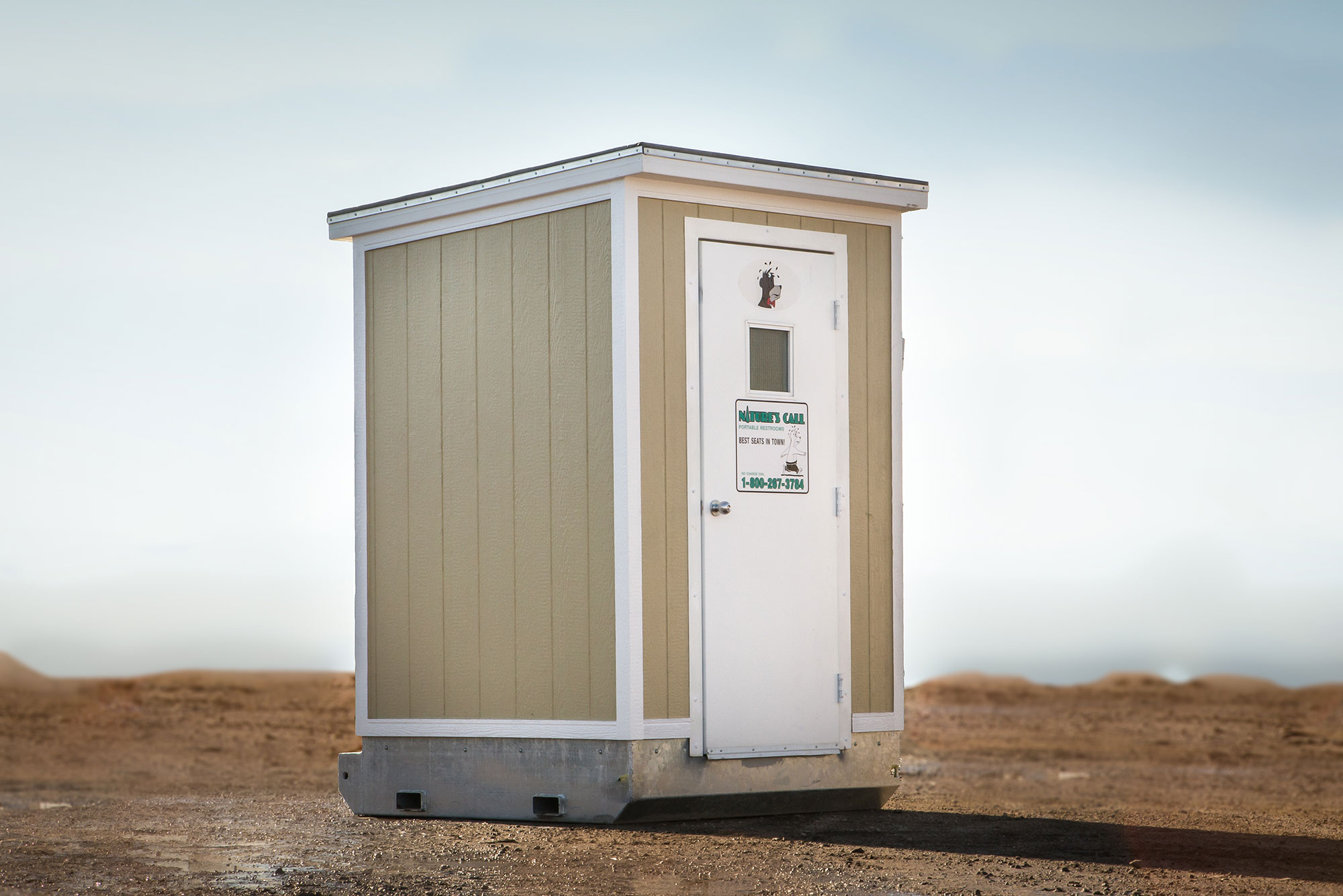 A heated portable restroom
