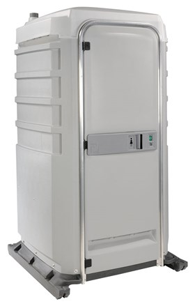 A signature plastic portable washroom