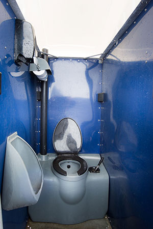Indoor portable restroom interior