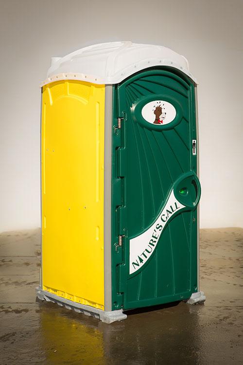 Plastic portable restroom