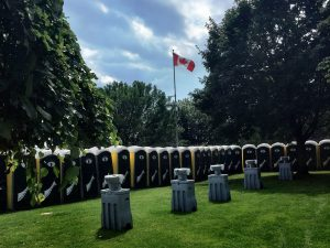 Our portable toilets and handwash stations at the Toronto Festival of Beer 2017