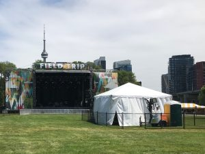 the stage and VIP section at Toronto's Field Trip 2018