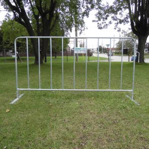 C-Type temporary fencing on grass