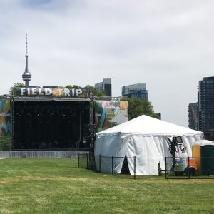 the VIP section at Toronto's Field Trip 2018