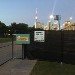 privacy fencing obscures construction